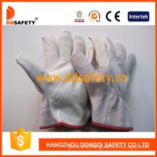 Cow Grain Cow Split Back Lining Leather Glove (DLD210)