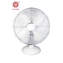 """10 """"ventilador de mesa de metal para o presente da promoção na cor do cromo"""