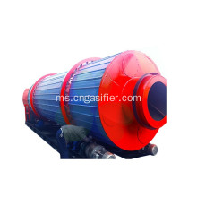 Kecil Industri Biomass Wood Chips Rotary Dryer