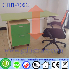 malaysia import products l shape office desk height adjustable table with manual crank