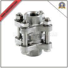 Válvula de retención de 3 piezas de acero inoxidable (YZF-V07)