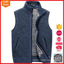 Los hombres sin mangas del telar jacquar 100% de la manera del algodón pullunder
