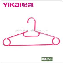 Conjunto de 10 ganchos de plástico para roupas na caixa de exibição com prateleira de cinto