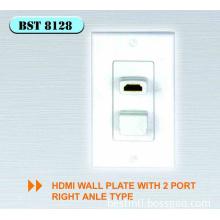 HDMI wall plate socket
