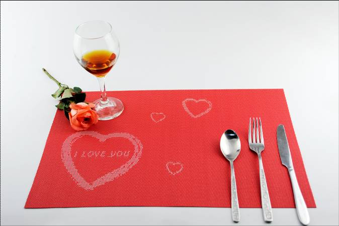 Festival love PVC eat mat decoration cushion1