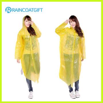 Manteau à manches longues jaune PE imperméable