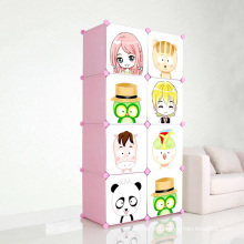 Cartoon DIY gabinetes de armazenamento de plástico para crianças (ZH001-5)