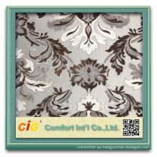 tela de cortina continua de lujo gruesa moderna de lino de poliéster