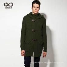 Fábrica de acrílico de lana de lana de Alpaca con capucha hombres suéter escudo