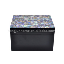 CPA-BPSBXS New Zealand Paua Shell Jewelry Box with Black Paint Small