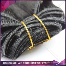 "Cheap 100% Clip de pelo humano en la extensión del pelo 18 ""Straight Virgin Remy Brazilian Hair Weft"