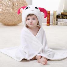 Super Soft Newborn Baby Flannel Blanket / Formes animales Trèfle stéréoscopique 3D / Mouton