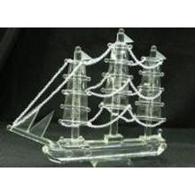Decoração de mesa de cristal Molde de barco de dragão (JD-MX-013)