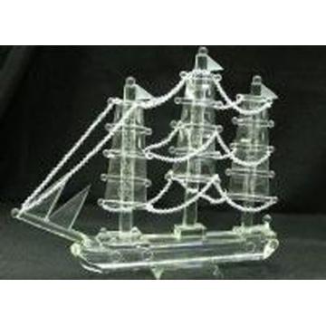 Decoración de mesa de cristal Dragon Boat Mold (JD-MX-013)