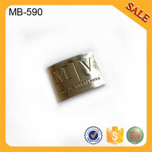 MB590 Custom metal plate 3d letters logo snapback caps,bag metal plate sticker with brand