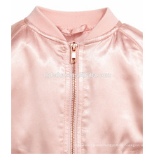 Soft touch material for kids outwear custom datin varsity jacket