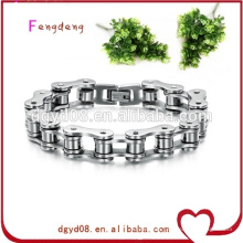 Biker's bike chain stainless steel bracelet of fashion jewelry/stainless steel motorcycle chain bracelet