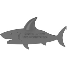 Cartoon BPA Free Shark Shape Silicone Bookmark