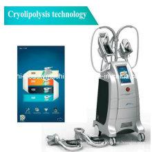 Máquina de adelgazamiento gorda de la belleza de la manija de la cabeza de la liposucción de Cryolipolysis del funcionamiento de cuatro cabezas que adelgaza