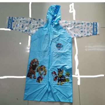 student raincoat with school bag place