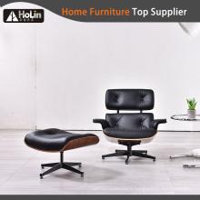 mobilier de bureau designers chaise lounge avec pouf eames