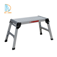 portable aluminum folding stair ladder platform