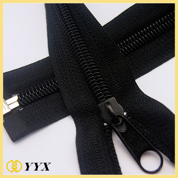 non lock nylon zipper