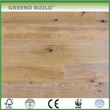 Revestimento de madeira projetado natural do carvalho branco da lavagem