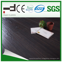 12mm Black Oak V-Bevelled American Style Laminate Flooring for Living Room