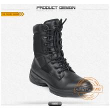 Bottes tactiques en nylon imperméable et en cuir de vachette / Anti-Slip and Anti-Abrasion