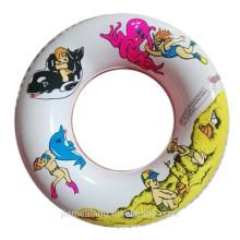 Nouvelle arrivée bague de natation colorée anneau de bain gonflable en nylon pour vente