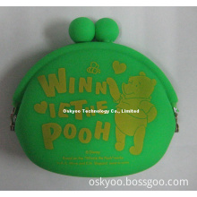 Custom Made Silicone Coin Wallet Purse Bag with Your Logo (SW108)