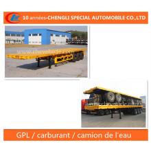 3 Essieux Plateaux Ridelles Semi-Remorque (semi-trailer)