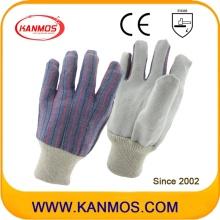 最も安い牛革スプリットレザー産業手の安全作業手袋(110201)