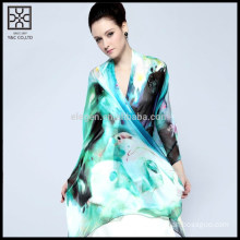 Fashion Silk Digital Printed Lady Scarf