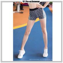 Ropa deportiva de alta calidad para mujeres pantalones cortos para correr
