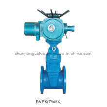 Non-Rising Stem Resilient Seated Electric Gate Valve