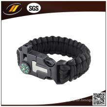 Wholesale Colorful Survival Paracord Bracelet with Compass