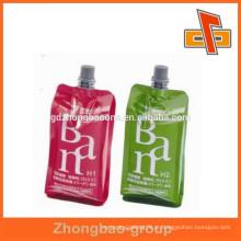 Saco de design personalizado, saquinho de plástico laminado biodegrad, stand up spout pouch