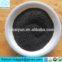 80-85% de contenido de alúmina fundida negra / óxido de aluminio negro