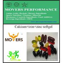 Calcium + Fer + Gélule de zinc / Gélule végétale / Sans conservateurs
