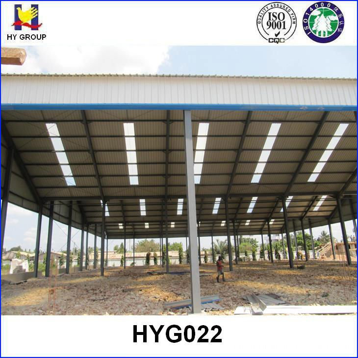 prefab steel roof structure