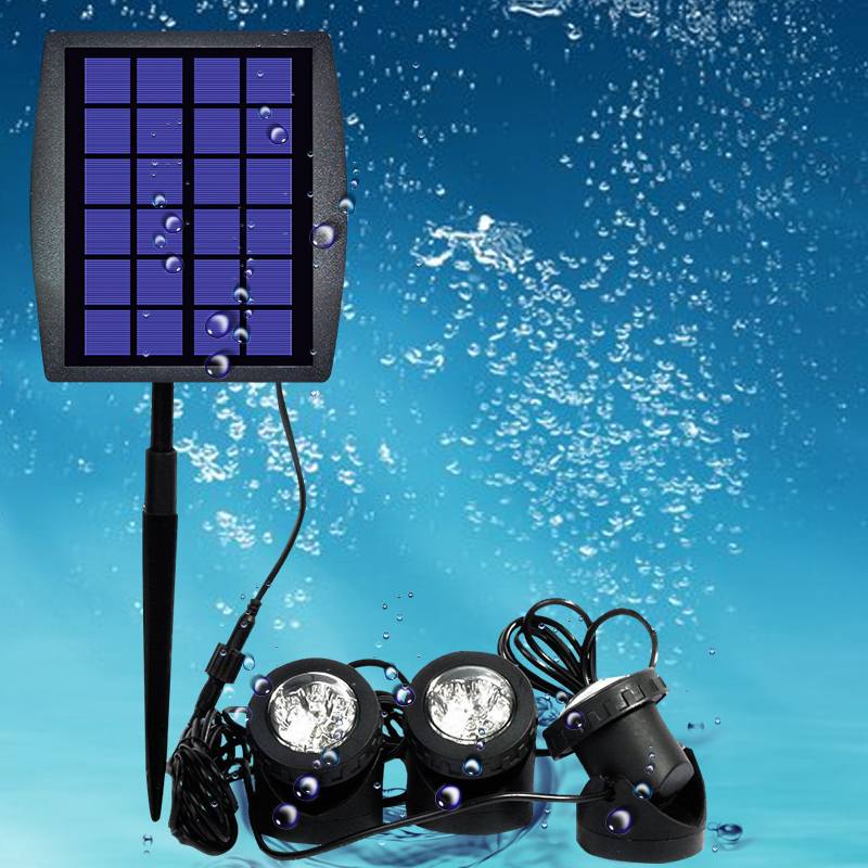 Solar Underwater Fountain Light