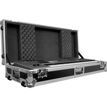 61-, 76-, or 88-Key Keyboard Case with Adjustable Foam and Wheels