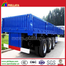 Tri-Axle BPW Cargo Semi Trailer with Side Wall Detachable