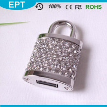 Wedding Gifts Locks Shape Crystal USB Flash Drive