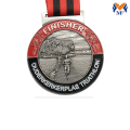 Médaille de membre sport en relief argenté