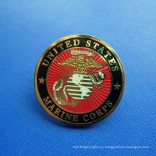 США Значки морской пехоты, штырь отворотом металлического золота (GZHY-LP-027)