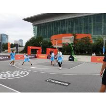 Enlio Outdoor Basketball Flooring 3X3 FIBA ​​Certification