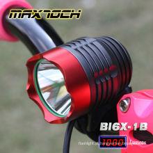 Luz do capacete da bicicleta de montanha do diodo emissor de luz do CREE T6 de Maxtoch BI6X-1B